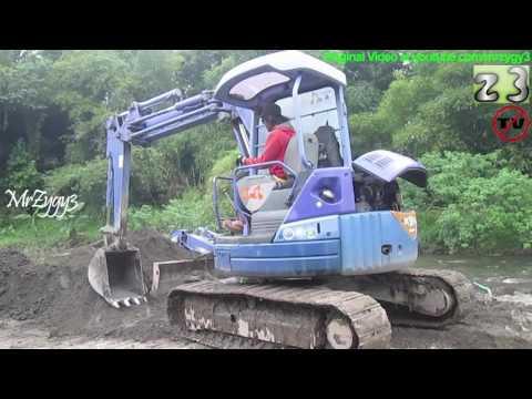 Komatsu Mini Excavator Working On River Construction