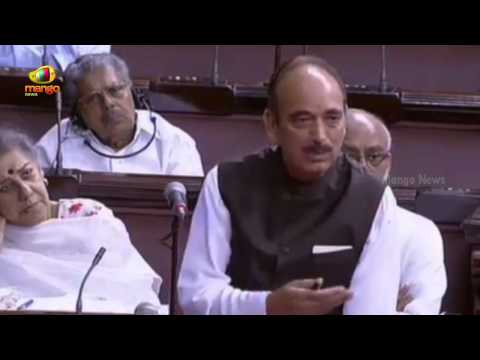 Ghulam Nabi Azad in Rajya Sabha on Modi controversial comments