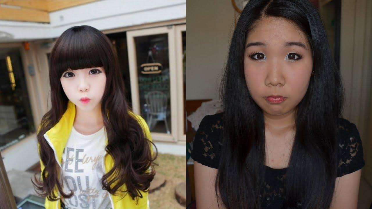 Ulzzang Makeup Before And After Korean Ulzzang Make Up...