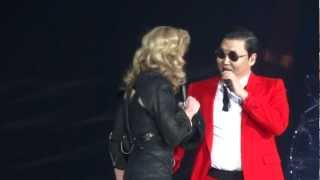 Madonna Video - Madonna And Psy - MDNA Give It 2 Me / Gangnam Style / Music - Madison Square Garden