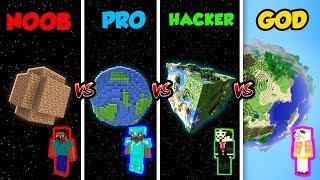 Minecraft NOOB vs. PRO vs. HACKER vs. GOD: PLANET in Minecraft! (Animation)