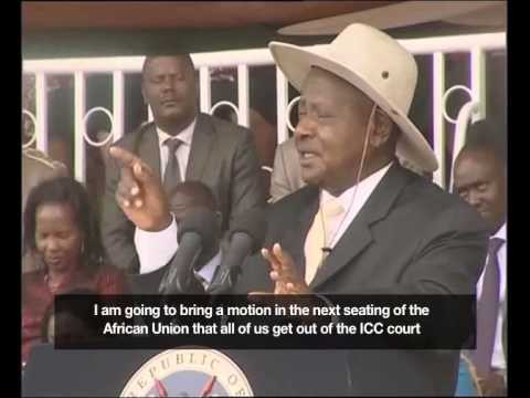 Museveni vows to convince African countries to quit ICC