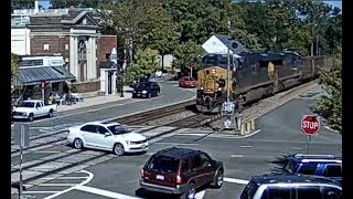 Train Misses Car By Seconds