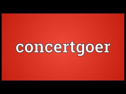 Header of concertgoer