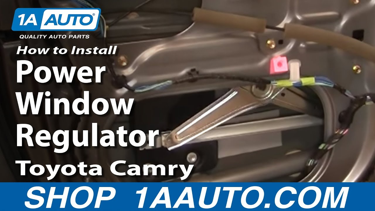 how to install replace power window regulator toyota camry
