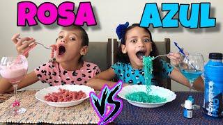 24 HORAS COMENDO COMIDAS ROSA VS AZUL