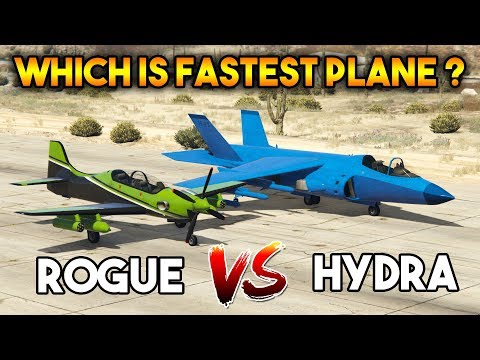 GTA 5 ONLINE : HYDRA VS ROGUE (WHICH IS BEST FIGHTER PLANE ?)
