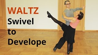 How to dance Waltz / Feather Finish and Swivel to Develope