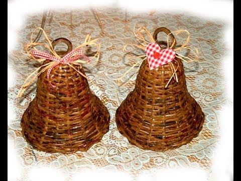 como tejer los adornos navidenos de papel reciclado parte