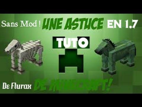 Tuto faire spawner un cheval squelette ou zombie dans minecraft sans mod youtube - Cheval minecraft ...