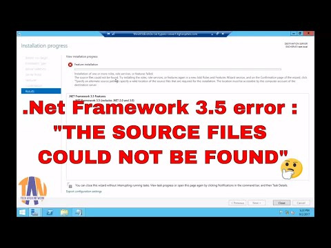 How to fix .net Framework 3.5 Installation issue in Windows Server 2012 R2 (Step by step solution)