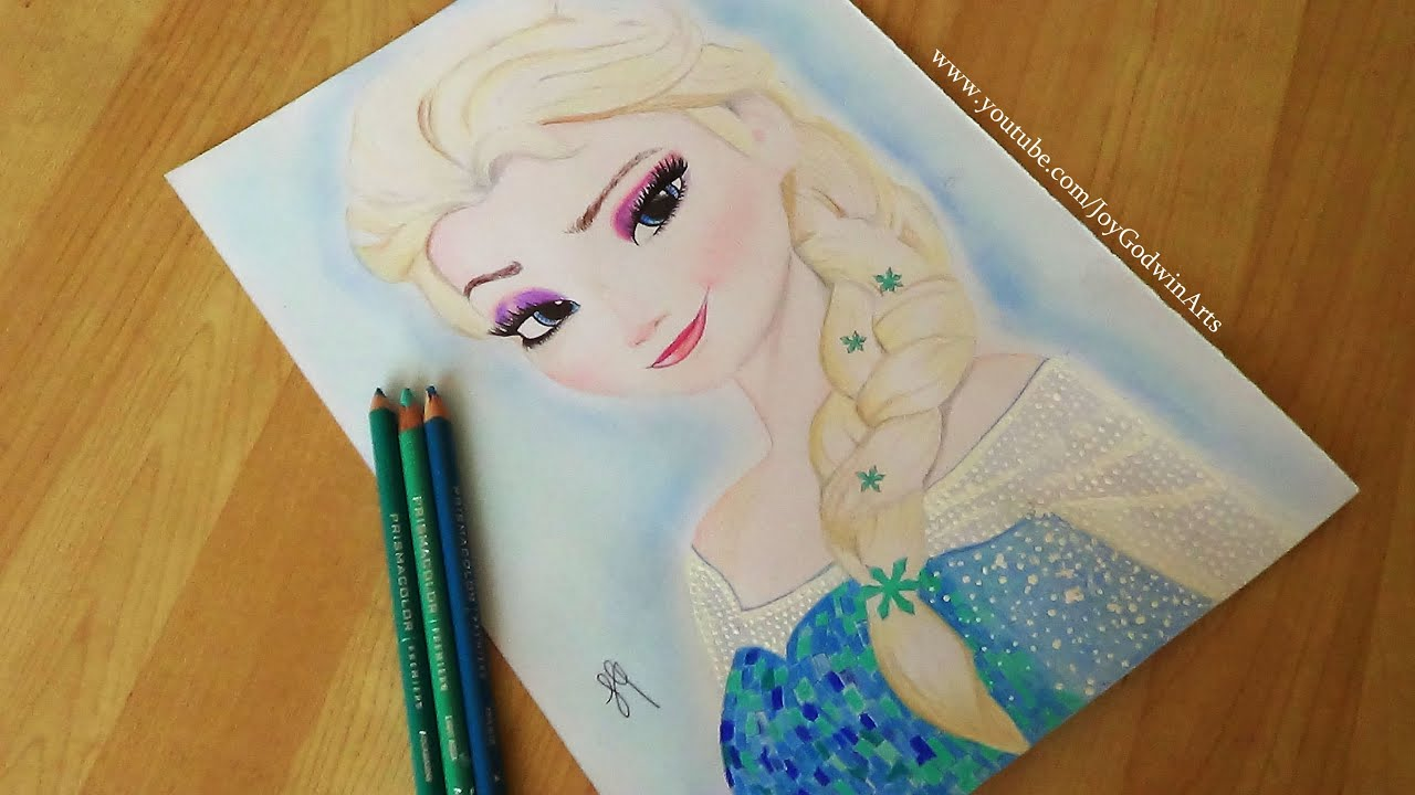 Drawing Pictures of Frozen ❅frozen❅ Elsa Speed Drawing