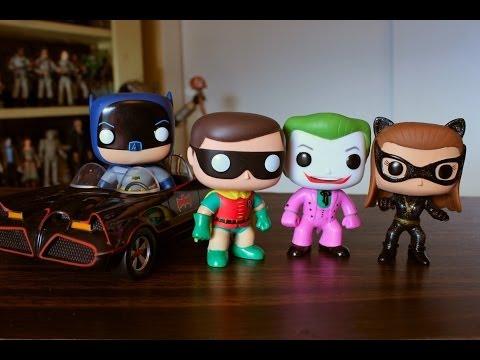 Funko Pop classic TV Batman Robin Joker Catwoman & Batmobile review