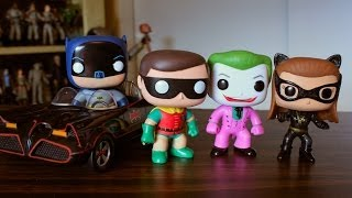 Funko Pop classic TV Batman Robin Joker Catwoman & Batmobile review