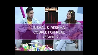 ROADIES COUPLE | BISHAL and RESHMA | YES or NO ? LIVON-THE EVENING SHOW AT SIX