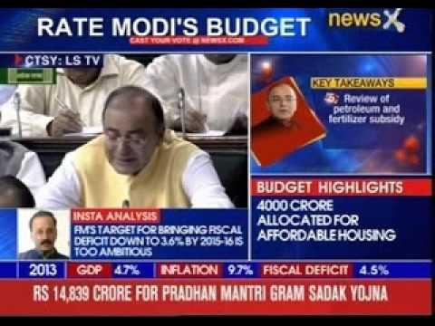 Arun Jaitley presents Union Budget