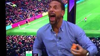 Rio Ferdinand Reaction To Zlatan Ibrahimovic Goal Man Utd vs Liverpool ► FUNNY