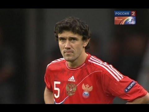 Зидановский финт Жиркова в матче Россия - Македония 1:0