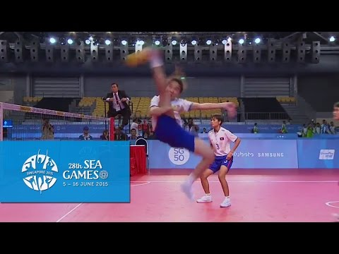 Sepaktakraw Women's Regu (Day 7) Laos vs Vietnam | 28th SEA Games Singapore 2015