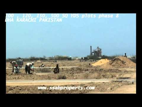 100 120  150 SQ YDS staff PLOTS PHASE 8 DHA KARACHI PAKISTAN DEFENCE HOUSING  AUTHORITY REALESTATE
