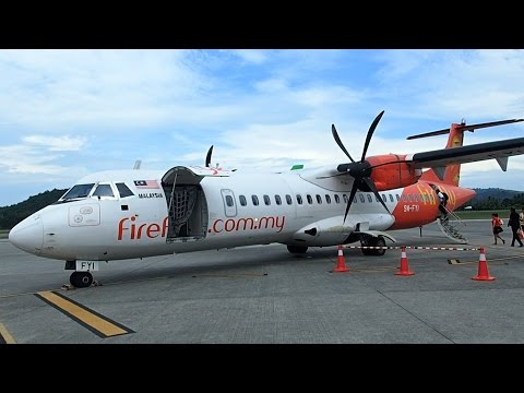 Flight review for Firefly flight FY2051 Langkawi Island to Subang airport Kuala Lumpur. Aircraft twin propeller ATR 72-600.