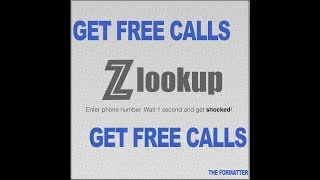 Get Free Calls | How to make free call with private number | ZLookUp Reverse Lookup Free Calls