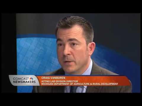 MDARD Acting Lab Director Craig VanBuren's interview with Comcast interview