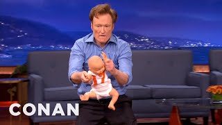 Steven Ho Shows Conan How To Weaponize A Baby - CONAN on TBS