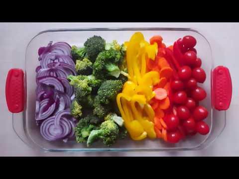 Здоровый ужин: курица с овощами в духовке
