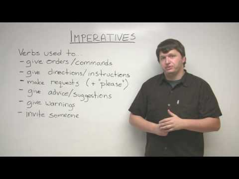 Imperatives – How to give commands in English and more!