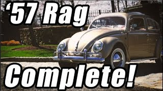 Classic VW BuGs 1957 Oval Window Ragtop Beetle Restoration Complete