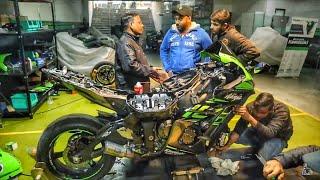 His Kawasaki ZX10R Fall Down ?? Ohh SHIT
