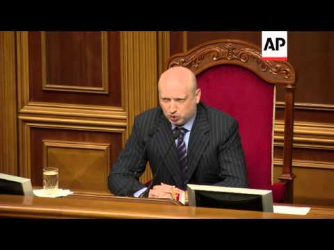 Lawmakers debate new constitution, Turchynov and Yatsenyuk comment