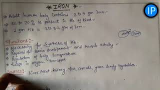 Iron_sources/function/deficiency/daily requirement%आयरन की कमी से होने वाले रोग☺treatment of anaemia