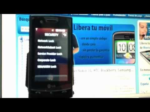 Liberar LG GT500 Puccini por imei de Yoigo. Vodafone o Movistar
