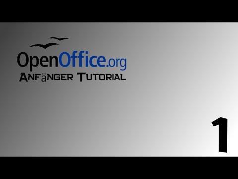 Anfängertutorial - OpenOffice Writer [Deutsch - HD] Part 1