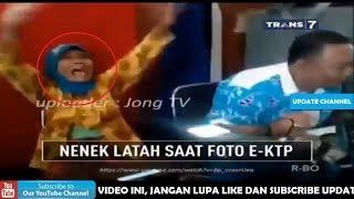 Nenek Latah Saat Foto E-KTP - On The Spot Trans 7 Terbaru 10 November 2017
