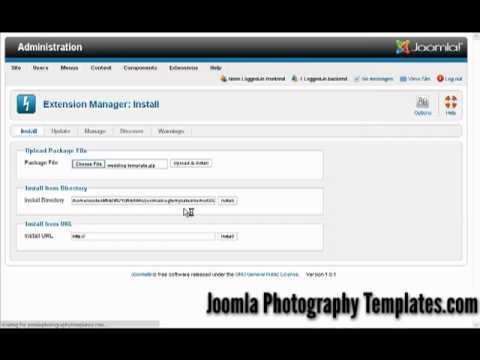 Installing Joomla Photography Website Templates