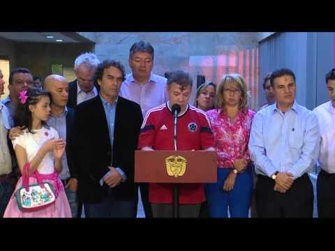 Presidente Santos al término de la reunión del Confis sobre Autopistas de la Prosperidad