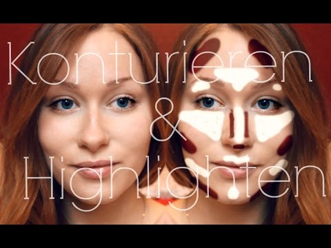 Contouring sehr helle haut