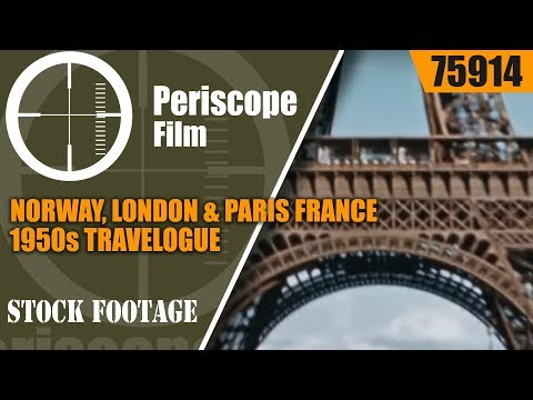 NORWAY, LONDON & PARIS FRANCE 1950s TRAVELOGUE 75914
