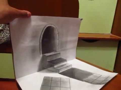 Amazing 3D Stairs drawings on paper 3Д рисунок на бумаге ...