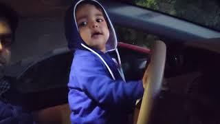 Car Drive by a Kid