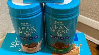 GNC lean protein shakes protein bars haul