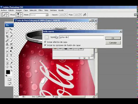 Gotas de agua con Photoshop