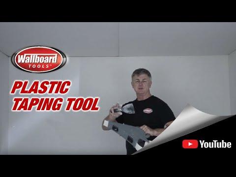 Using the Wallboard Plastic Taping Tool