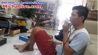 Combo Sound Card V8 mic BM900 Kết Nối Với Loa Karaoke Gia Đình
