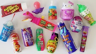 Mixing crazy candy lollipop ice cream slime candy jelly beans toy candy dispensers