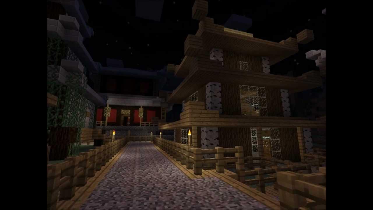 Amazing Minecraft Japanese Village Youtube