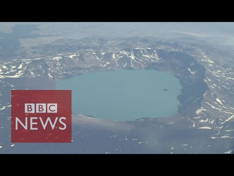 Iceland eruption near volcano triggers red alert - BBC News